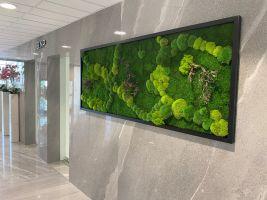 Mechová dekorace od Mechdekor v New Living Center