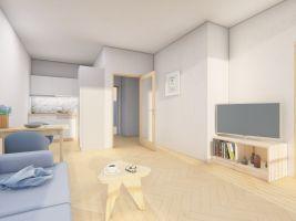 Vizualizace projektu bytový dům Gabreta