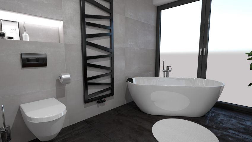 Černé prvky vévodí moderním koupelnám. Žádná deprese, jen ryzí elegance