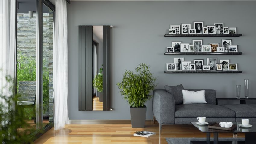 Designový tip: radiátor se zrcadlem