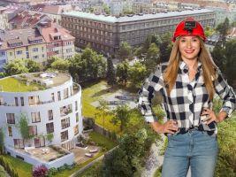 Moderátorka Lucie Kratochvílová v pořadu Developerské projekty