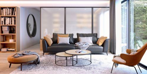 Dominantním prvkem v moderních interiérech se stává sklo