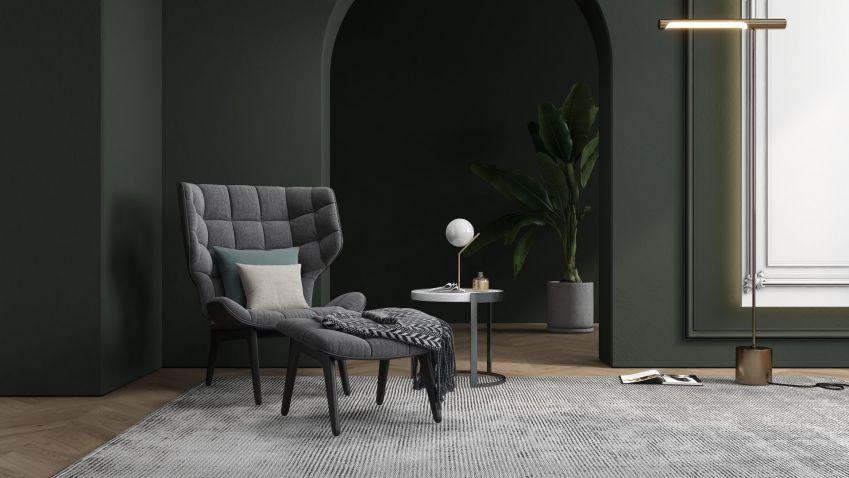 Dramatický interiér, to je luxus v podobě kombinace tmavých barev