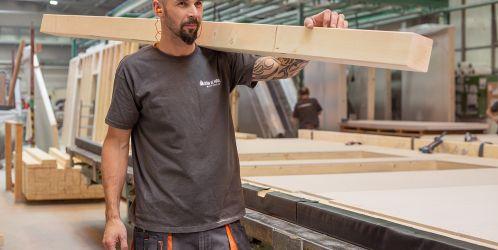 Jak se vyrábí dřevostavby - Vnitřní stěny