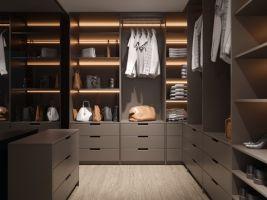 Velkorysé šatny nejsou ztrátou jedné místnosti, je to zisk pro všechny ostatní prostory v domě