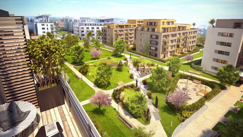 Energeticky pasivní projekt se nově rozrostl o hrubou stavbu třetí etapy.