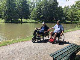 Paralympionik David Drahonínský a Michal Jančařík