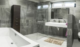 Inspirace: Kamenný design koupelny