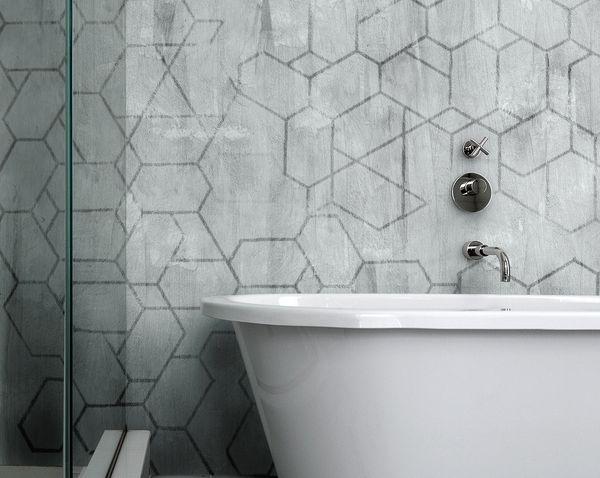 Inspirace: Nová koupelna během chvilky? Zkuste voděodolné tapety