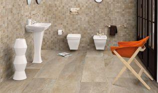 Inspirujte se: Toaleta obložená pískovcovou barvou