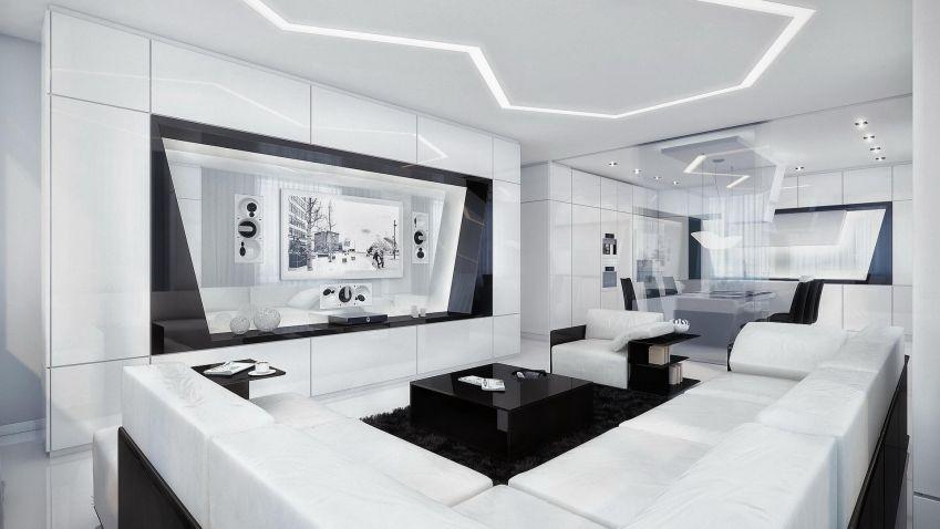 Inteligentní interiér ve stylu high-tech nadchne milovníky moderních technologií