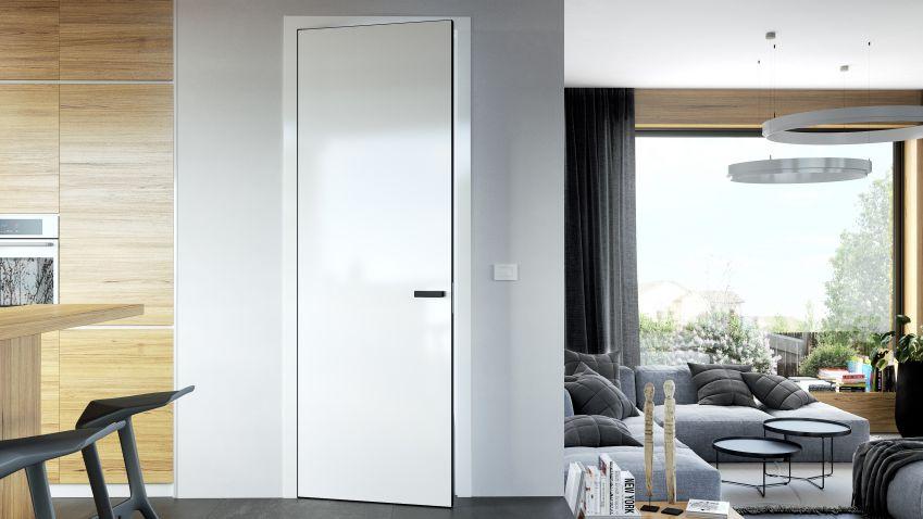 Interiér v severském stylu jde ruku v ruce s bílými dveřmi