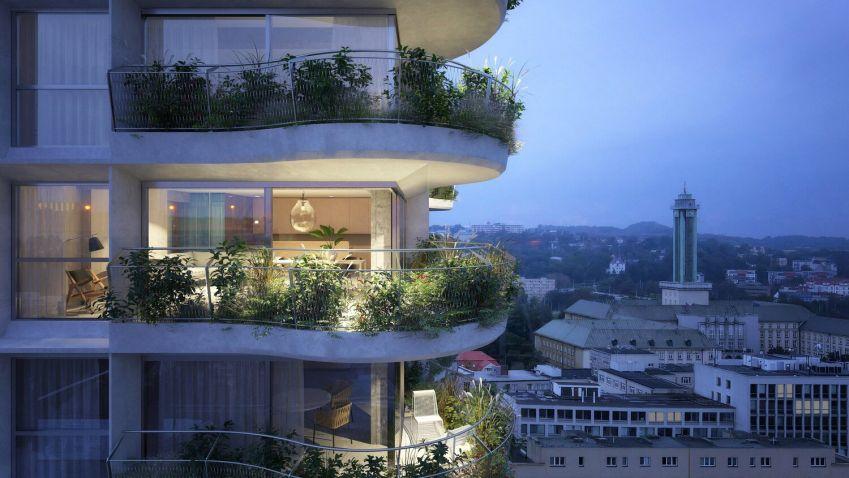 Jak se bude bydlet v jedné z nejvyšších budov Ostravy? Podívejte se na designové interiéry mrakodrapu Skyscraper