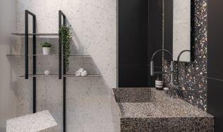 Stylové koupelny plné inspirace - Moderní provedení benátských designů teracových dlaždic