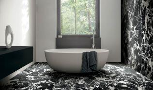 Stylové koupelny plné inspirace - Nadčasové černobílé koupelny