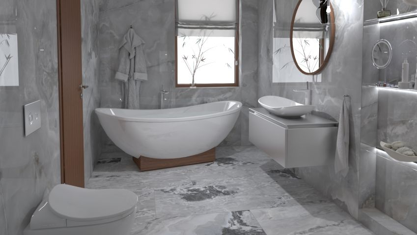 Nikdy nestárnoucí mramorová koupelna dodá interiéru punc luxusu