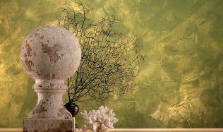 """Novinka: dekorační interiérová stěrka jako benátská """"skvrnitá"""" fasáda"""