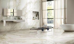 Stylové koupelny plné inspirace - Koupelny s designy atypických onyxů nebo jiných polodrahokamů