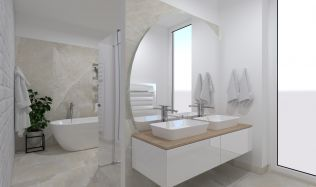 Stylové koupelny plné inspirace - Koupelny s přírodními vzory kamenné soli