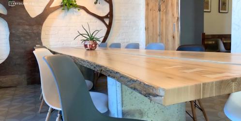 Veletrhy - Obří kusy masivního dřeva s charakterem v moderních interiérech