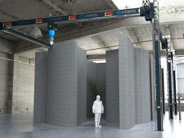 3D tisk betonového domku v Bavorsku