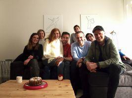 Manželé Koukalovi s natáčecím štábem TV Bydlení