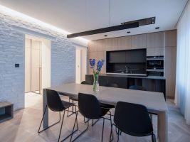 Obývací prostor s kuchyní, foto: Petr Polák