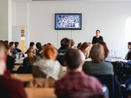 Pavel Podruh se studenty architektonických a stavebních vysokých škol