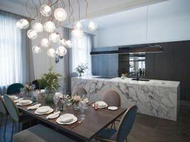 Kuchyňský pult Rezidence v Pařížské ulici v Praze