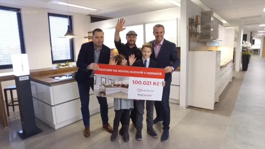 Předáváme voucher na kuchyň za 100.021 Kč výherci!