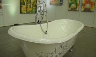 Proměna koupelny v umělecké dílo