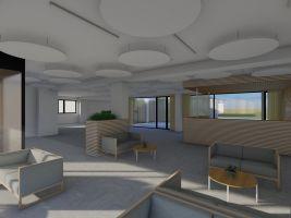 Vizualizace budovy po rekonstrukci. Zdroj: Clementas