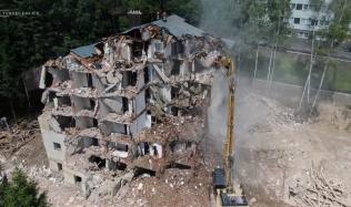 VIDEO: Podívejte se, jak jde bývalý hotel Skalka k zemi