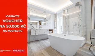 Vybíráte novou koupelnu? Vyhrajte voucher na 50.000 Kč!